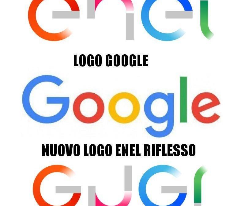 nuovo logo enel simile a google creativamente