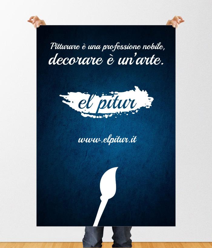 El Pitur Tinteggiature poster 100x140 cm