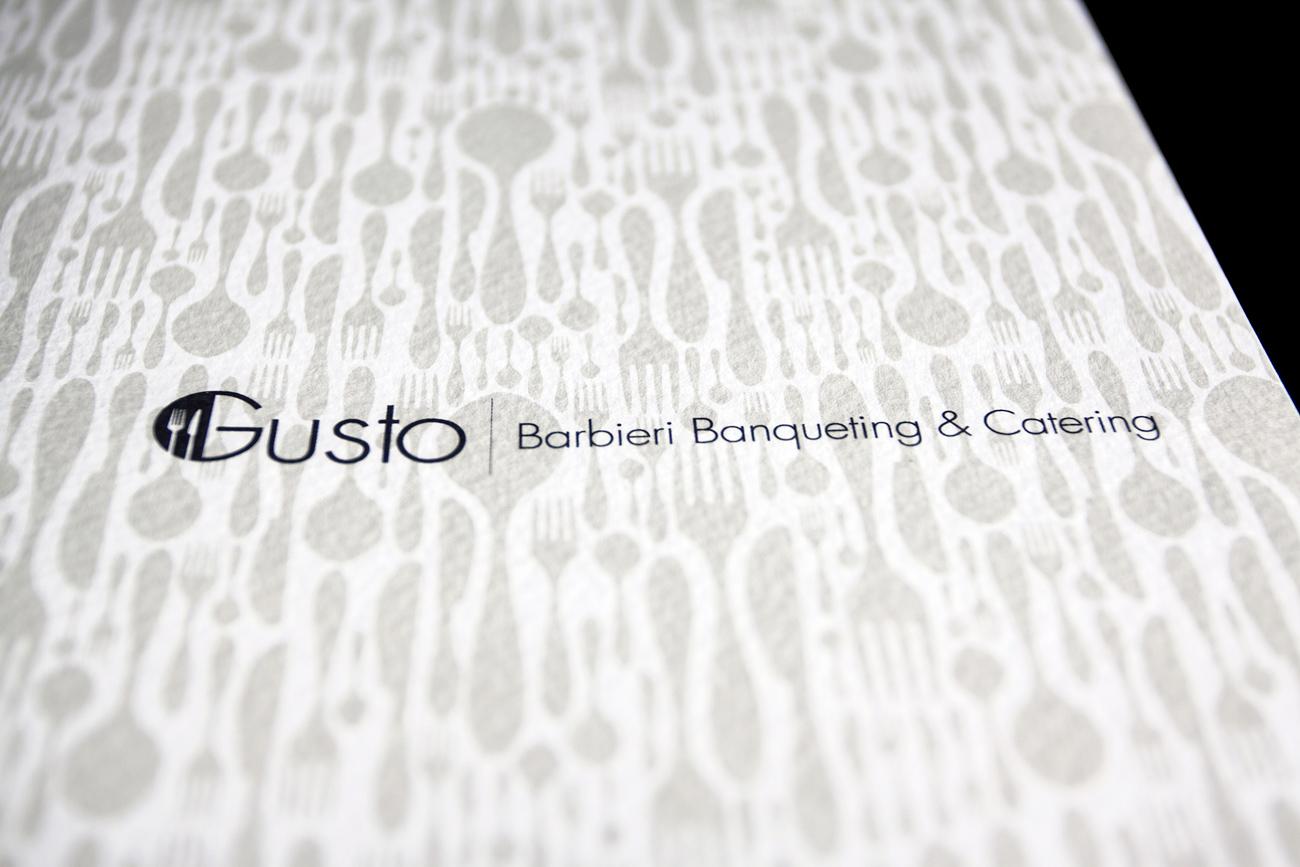 Gusto Banqueting & Catering pieghevole tre ante copertina