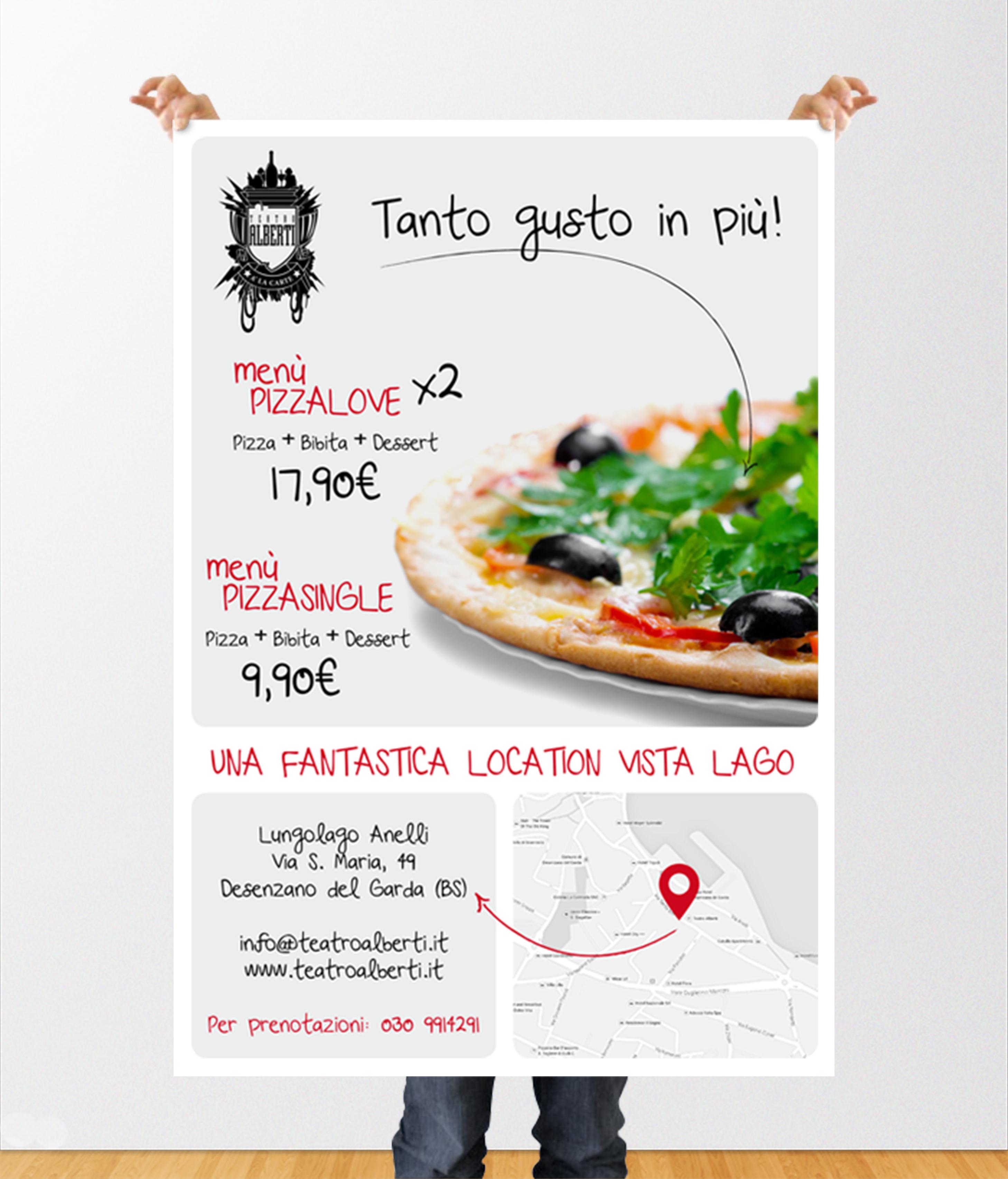 Poster Pizzeria Teatro Alberti