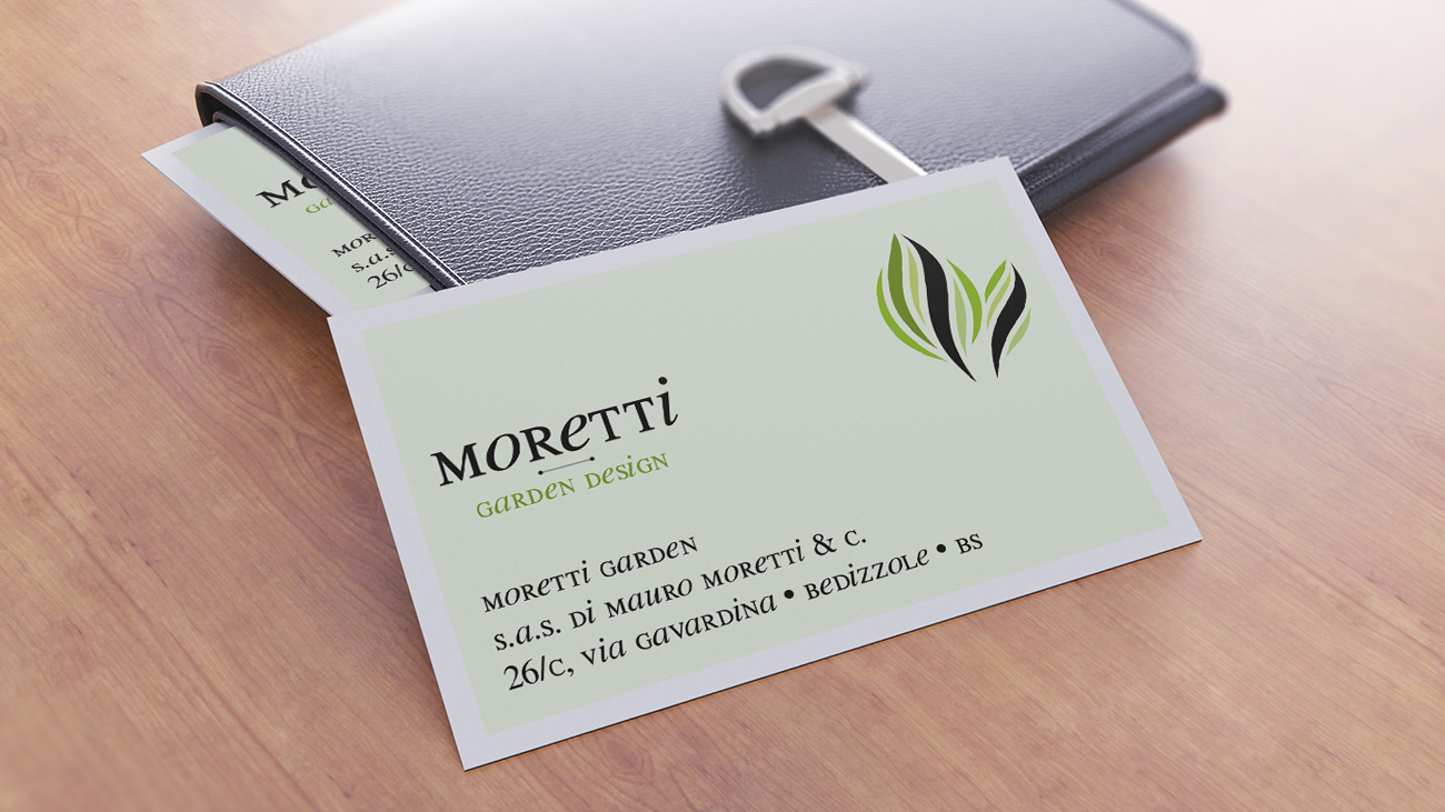 Giardini Moretti biglietto da visita