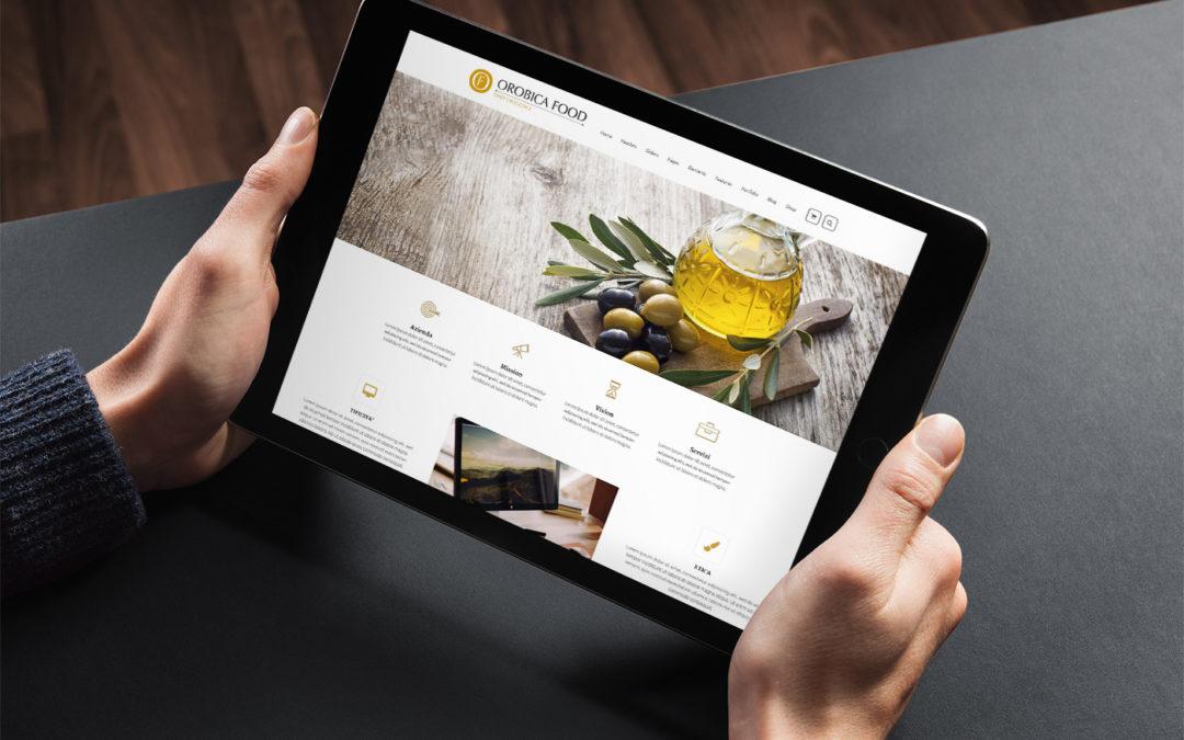 Orobica Food News - iPad mockup - Ceativamente Agenzia di Comunicazione a Brescia