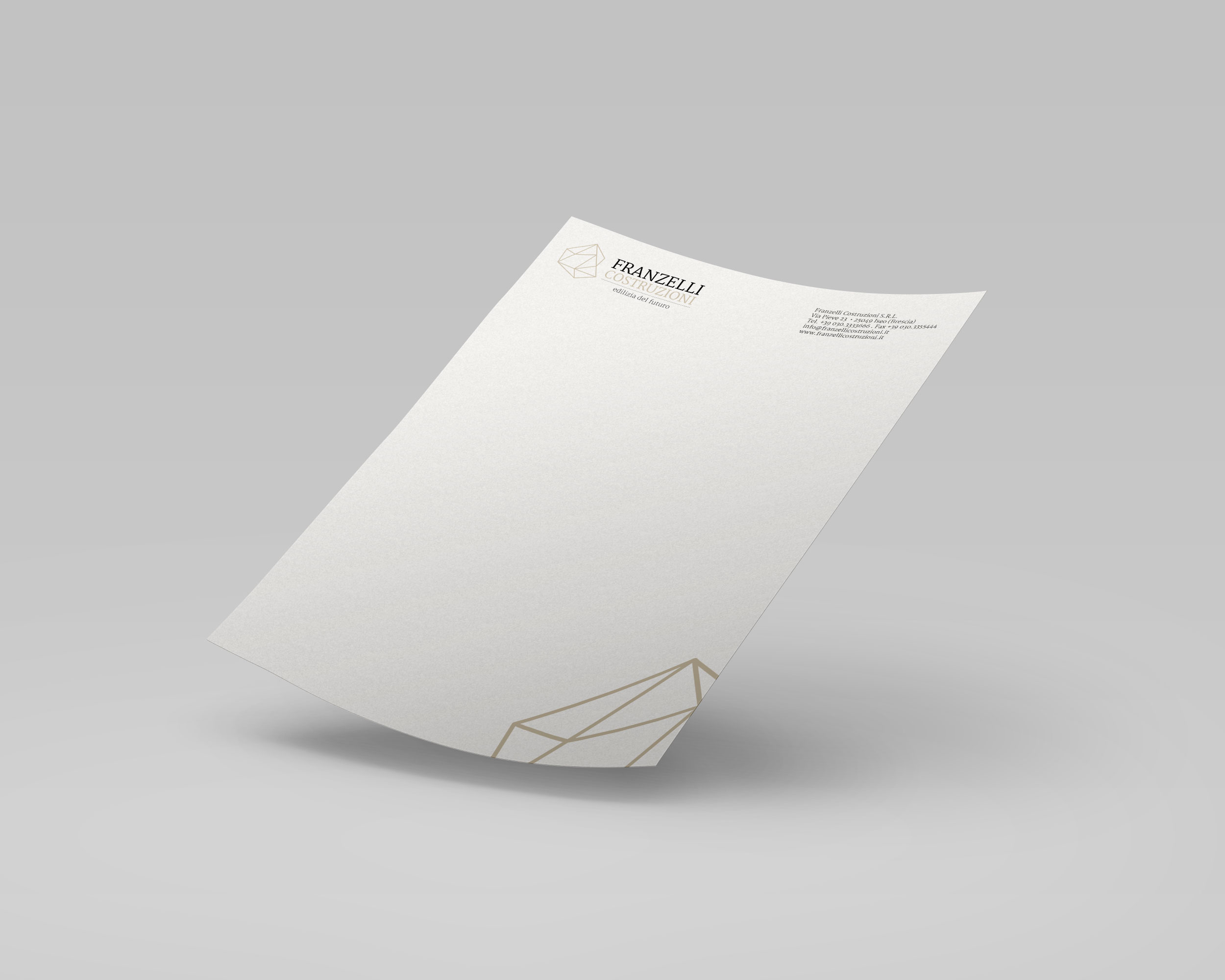 Franzelli Costruzioni - Carta Intestata - Creativamente Agenzia di Comunicazione a Brescia