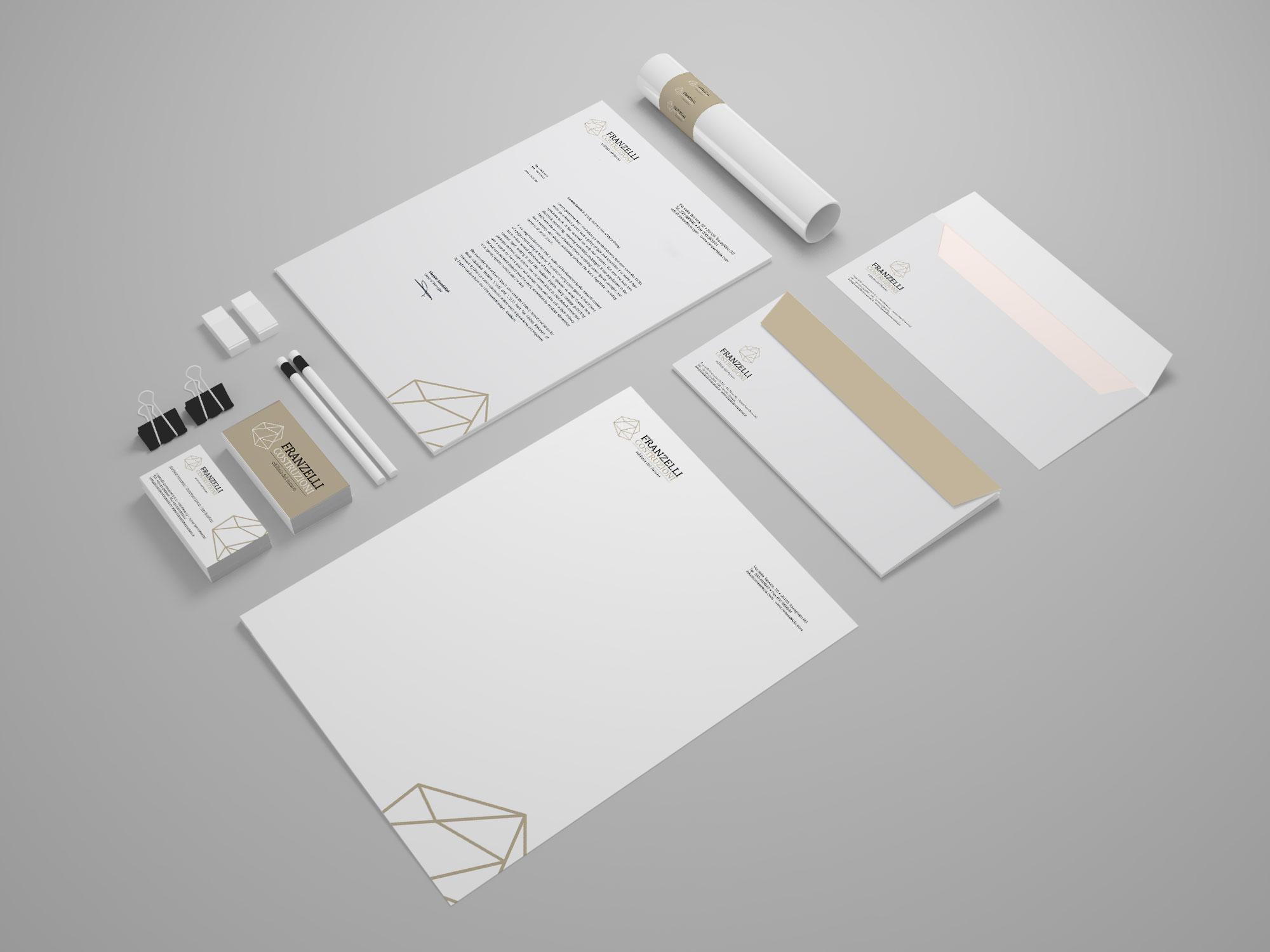Franzelli Costruzioni - Immagine Coordinata - Creativamente Agenzia di Comunicazione a Brescia