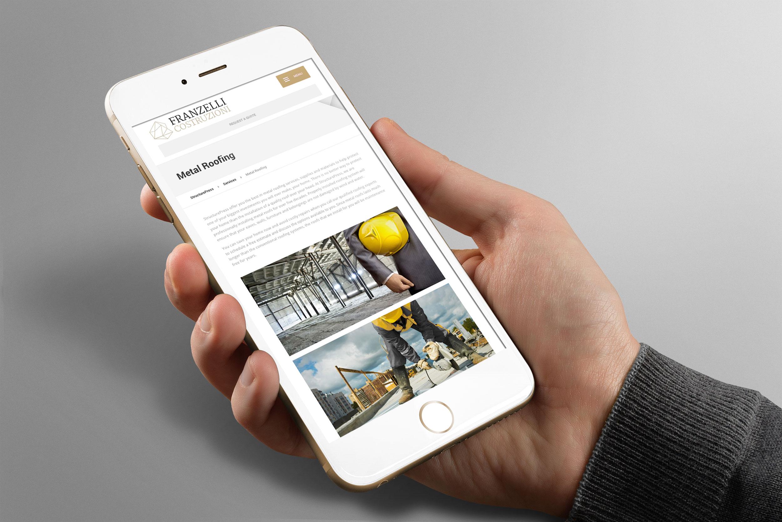Franzelli Costruzioni - iPhone Mockup - Creativamente Agenzia di Comunicazione a Brescia