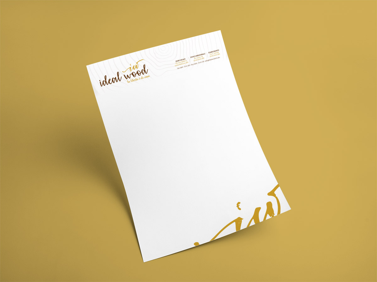 Creativamente - Ideal Wood A4 MockUp