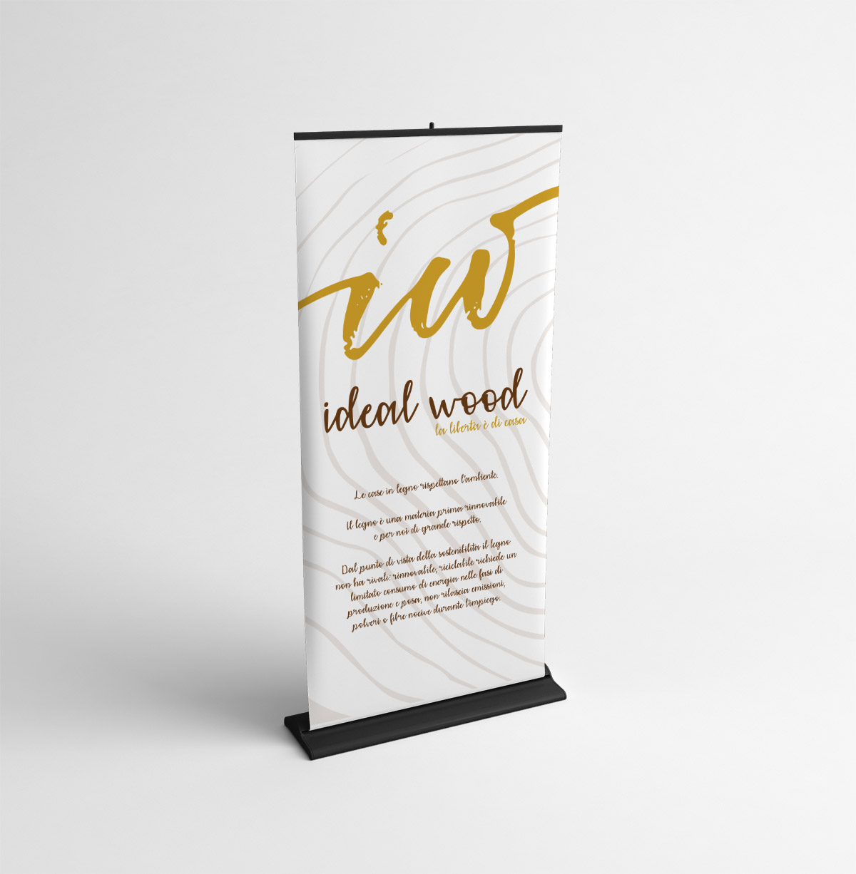 Creativamente - Ideal Wood Roll Up MockUp